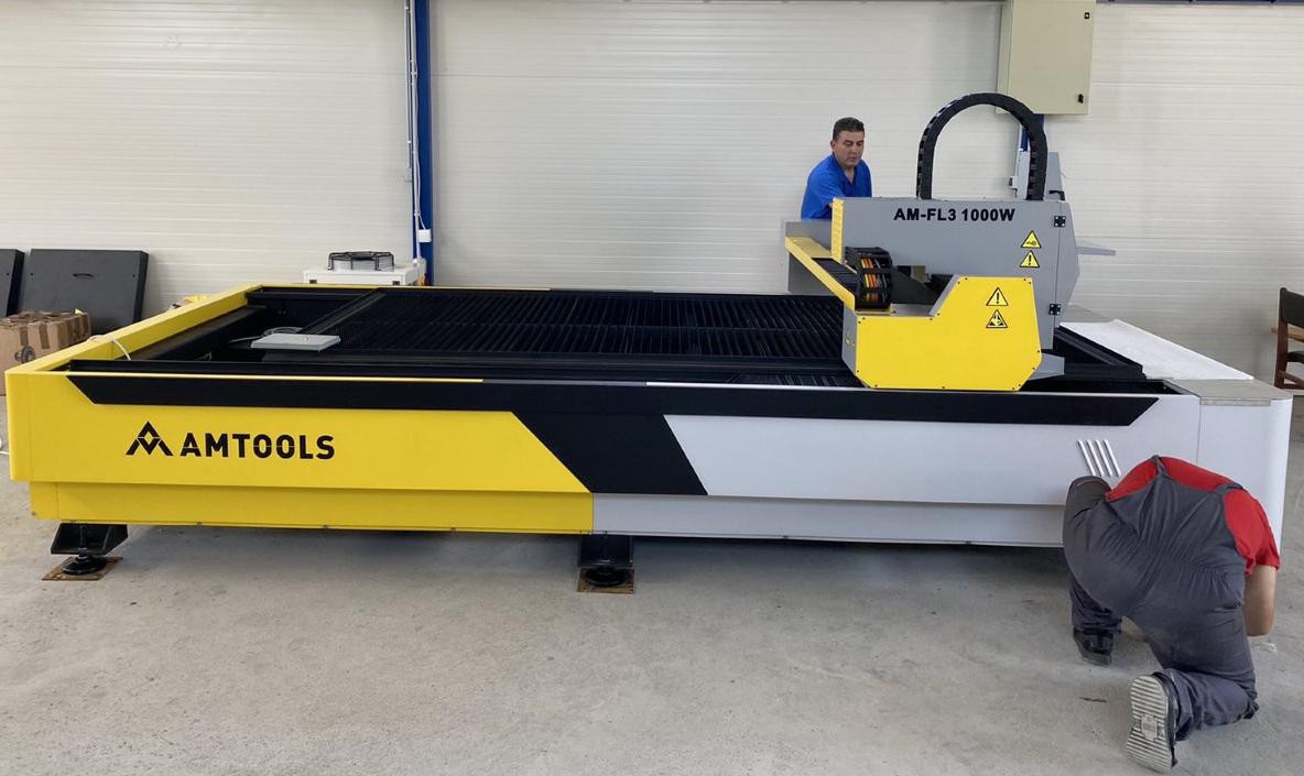 Instalacija CNC fiber lasera AMTOOLS