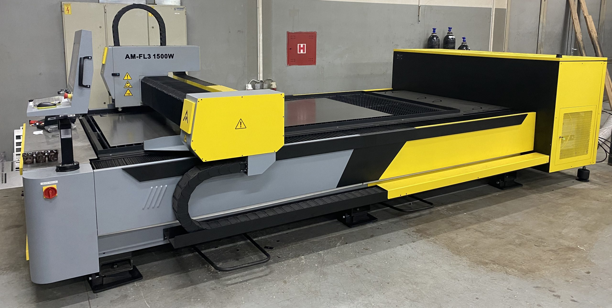 CNC Fiber Laser, AM-FL 1500W, AMTOOLS, MADE IN SERBIA